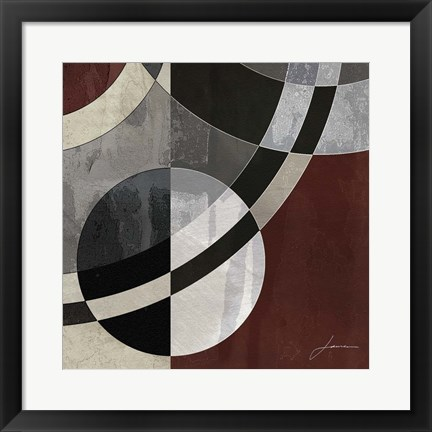 Framed Concentric Squares III Print