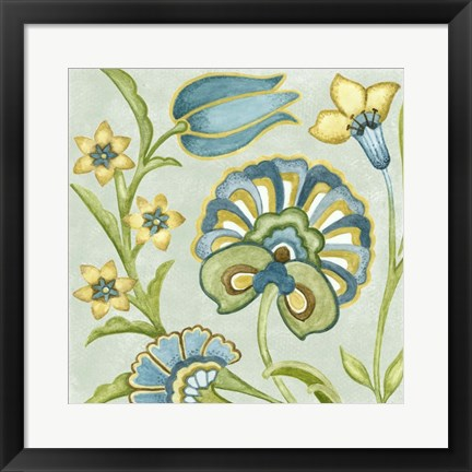 Framed Decorative Golden Bloom II Print