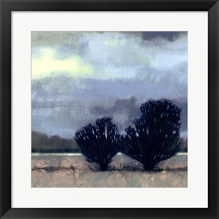 Framed Moonlit Field I Print