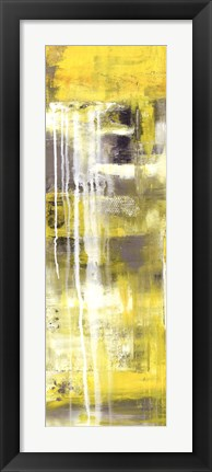 Framed Mellow Yellow I Print