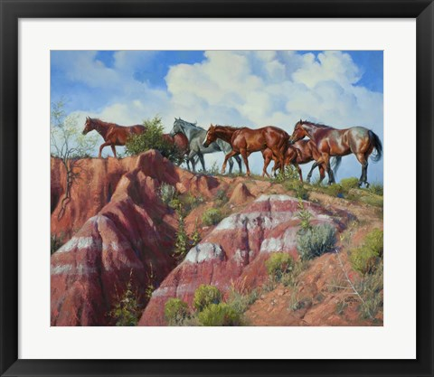 Framed Colored Clay & Quarterhorse Print