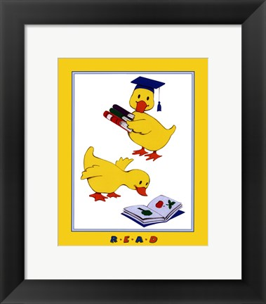 Framed Ducks - Reading Print