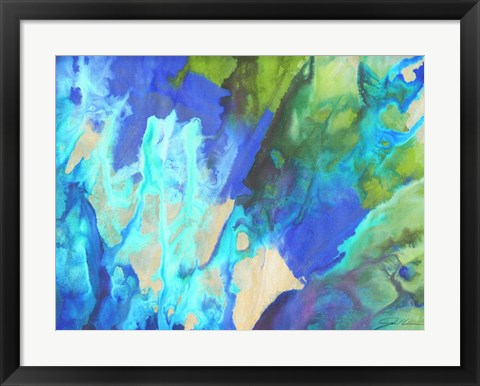 Framed Blue Crush II Print