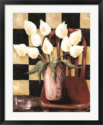 Framed Bright Tulips Print