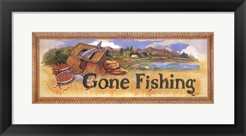 Framed Gone Fishing Print