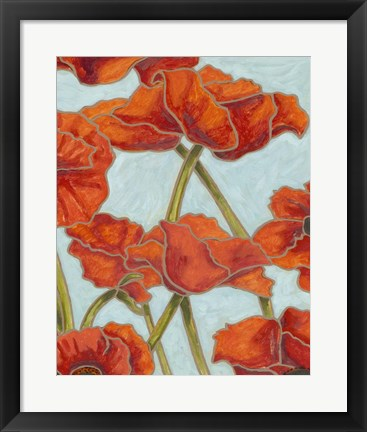 Framed Poppy Talk II Print