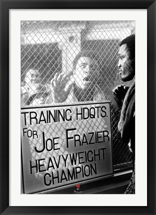 Framed Ali vs. Frazier - Window Taunt Print