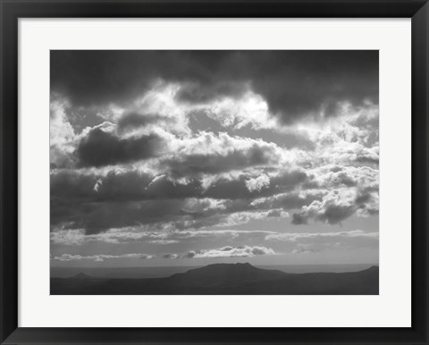 Framed Mountains & Clouds I Print