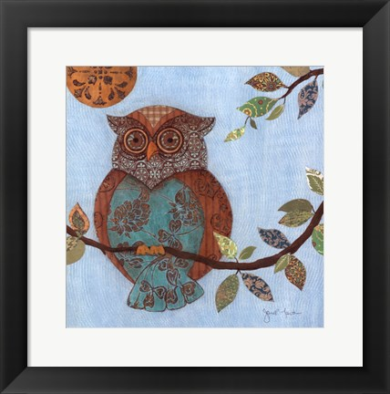 Framed Wise Owl II Print