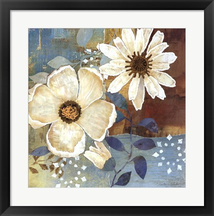 Framed Flowers At Dawn II Print