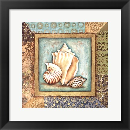 Framed Ocean Treasures Bath II Print
