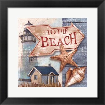 Framed To the Beach Print