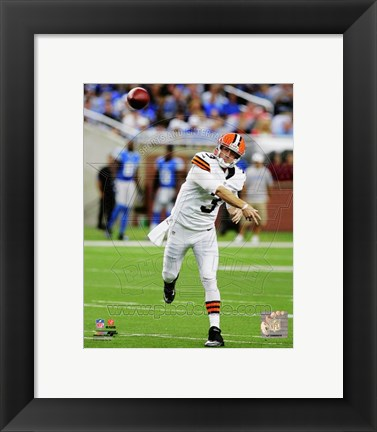 Framed Brandon Weeden 2012 football Print