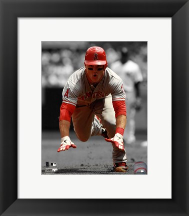 Framed Mike Trout 2012 Spotlight Action Print