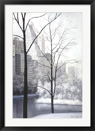 Framed Central Park-Essex House Print