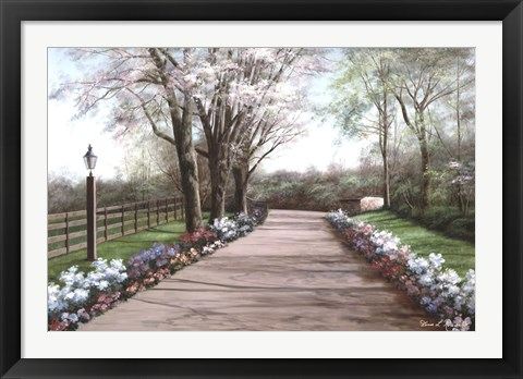 Framed Country Lane Print