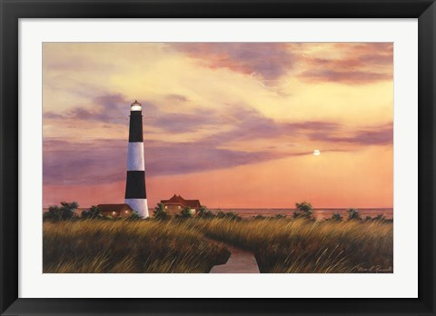 Framed Fire Island Light House Print