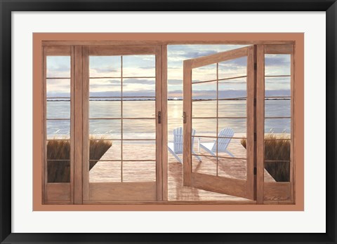 Framed Idle Hours with Doors Print