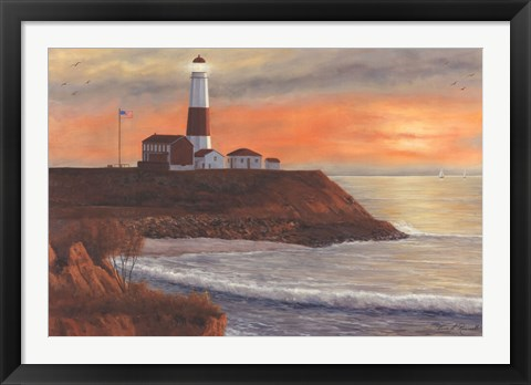 Framed Montauk LH Sunset Print