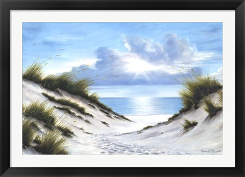 Framed Sand and Sea Print