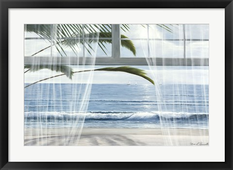 Framed View of the Tropics Through the Window Print