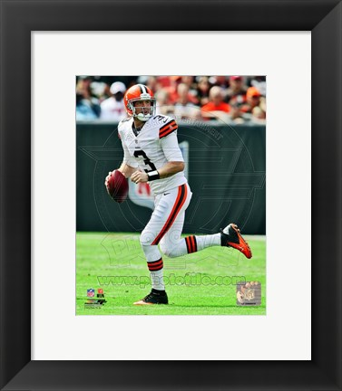 Framed Brandon Weeden 2012 Action Print