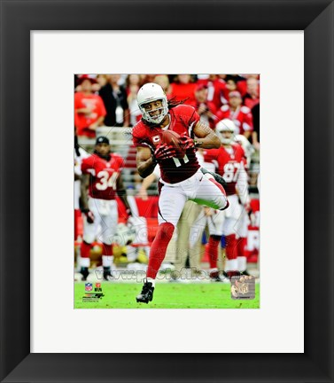 Framed Larry Fitzgerald 2012 Action Print