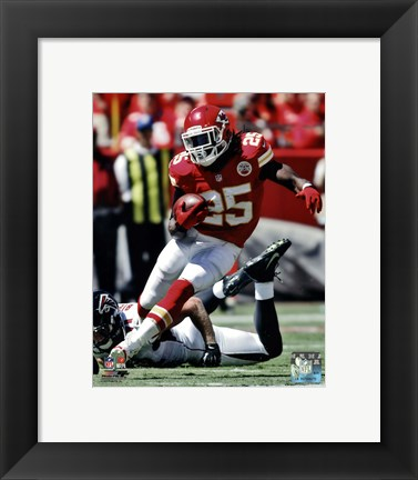 Framed Jamaal Charles 2012 Action Print