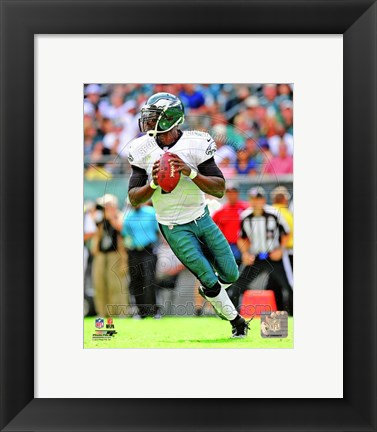 Framed Michael Vick Football Action Print