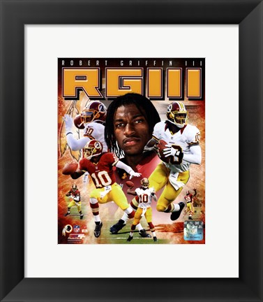 Framed Robert Griffin III 2012 Portrait Plus Print