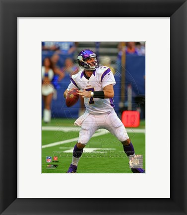 Framed Christian Ponder 2012 football Print