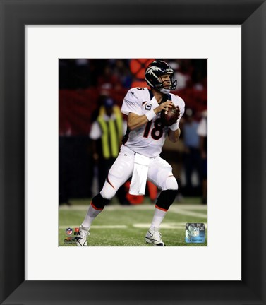 Framed Peyton Manning 2012 Action Print