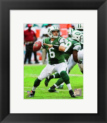 Framed Mark Sanchez 2012 Action Print