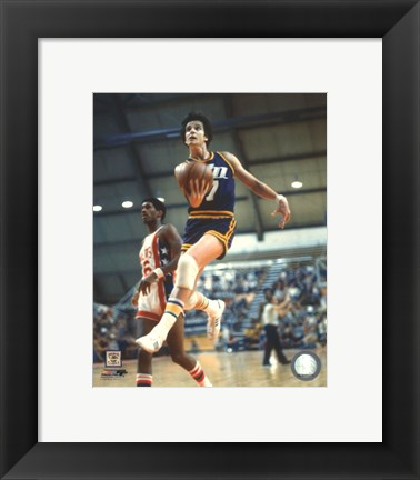 Framed Pete Maravich Action Print
