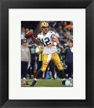 Framed Aaron Rodgers 2012 Action shot Print