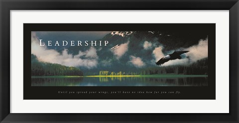 Framed Leadership-Eagle Print