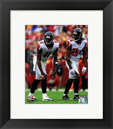 Framed Julio Jones & Roddy White 2012 Action Print