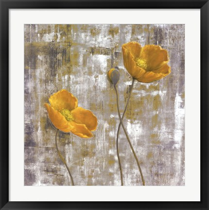 Framed Yellow Flowers I Print