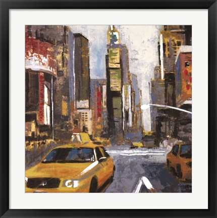 Framed Bright Lights, Big City II Print