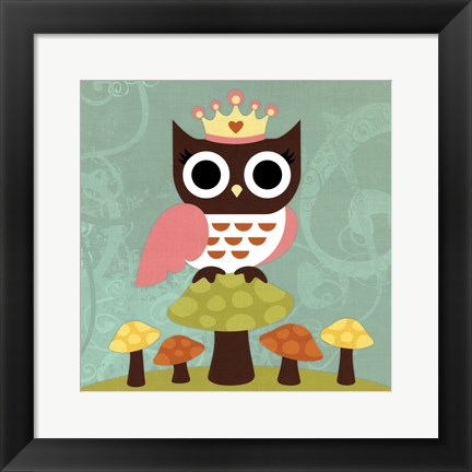 Framed Princess Owl Print