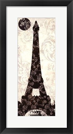 Framed Moon Over Paris Print