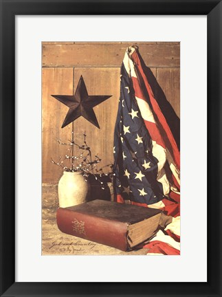 Framed God and Country Print
