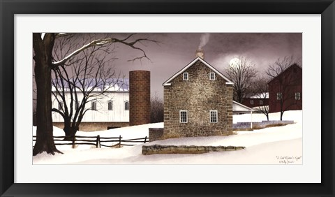 Framed Cold Winter's Night Print
