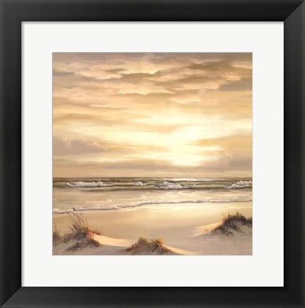 Framed Golden Skies II Triptych Print