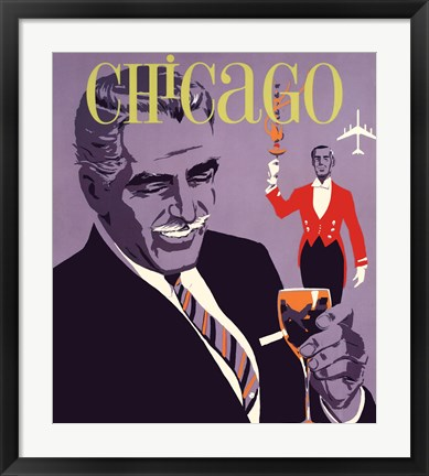 Framed Chicago Art Deco the Windy City Print