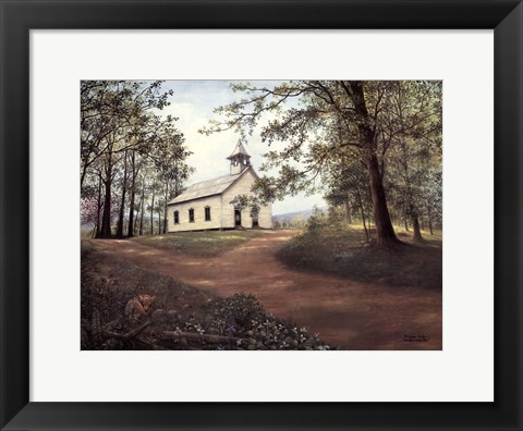 Framed Sunday in Cades Cove Print