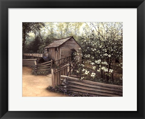 Framed Cable Mill in Spring Print