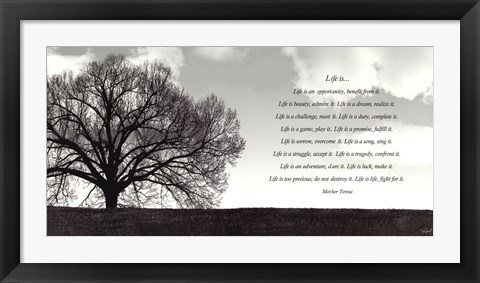 Framed Life Is... Print