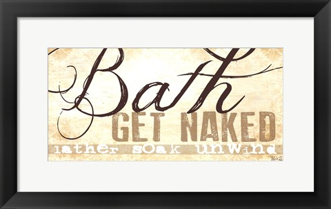 Framed Bath - Get Naked! Print