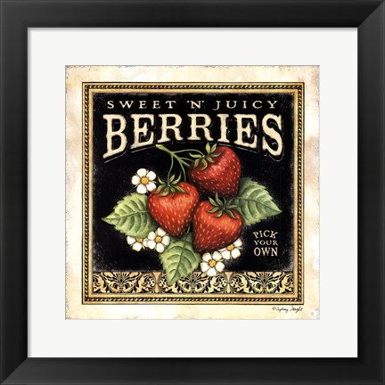 Framed Sweet N Juicy Berries Print